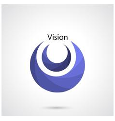 Creative circle abstract logo design templa vector