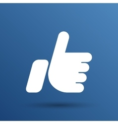 Like hand ok icon line design vector