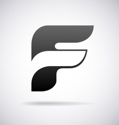 Logo for letter f vector