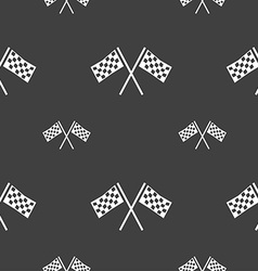 Race flag finish icon sign seamless pattern on a vector