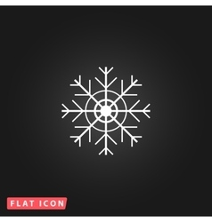 Snowflake flat icon eps vector
