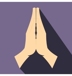 Praying hands flat icon vector