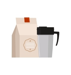 Travel coffee mug simplified vector