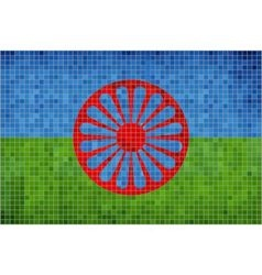 Flag of the romani people vector