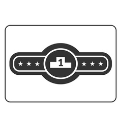 Champion belt icon 2 vector