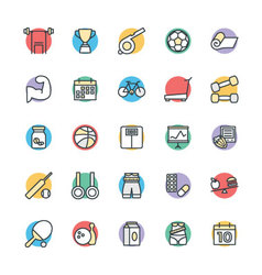 Fitness cool icons 2 vector