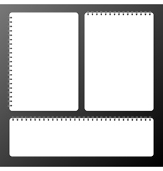Blank realistic spiral notepad notebook set vector