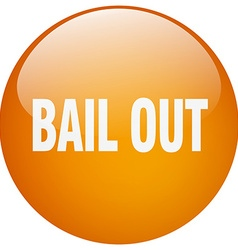 Bail out orange round gel isolated push button vector