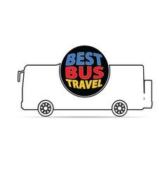 bus travel color vector image vector image