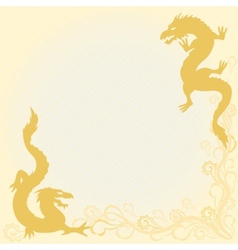 Card with dragons in eastern style vector image