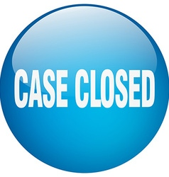 Case closed blue round gel isolated push button vector