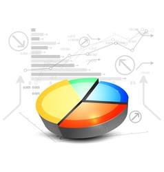Colorful pie chart on a white background vector