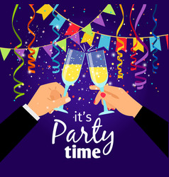 couple party poster vector image
