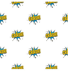 crash explosion speech bubble pattern seamless vector image vector image