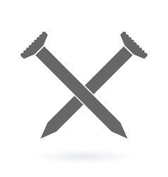 Crossed nails icon vector