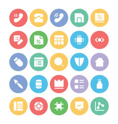 Design and Development Icons 6 vector image