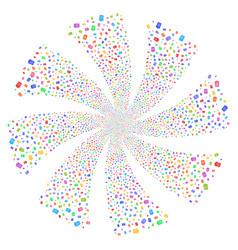 Dustbin fireworks swirl rotation vector