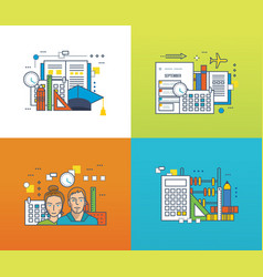 education learning tools strategic planning vector image