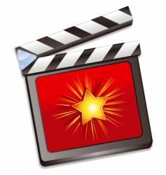 Film slate vector