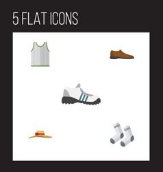 Flat icon dress set of elegant headgear singlet vector