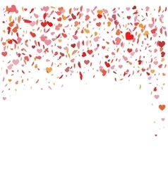 Flying heart confetti for vector image