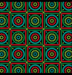 Granny square pattern on black vector