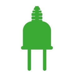 Green silhouette head plug connector vector