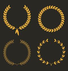 Laurel wreath set of laurel wreaths vector