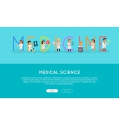 Medicine banner science alphabet vector