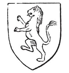 Rampant lion was assumed as an appropriate emblem vector
