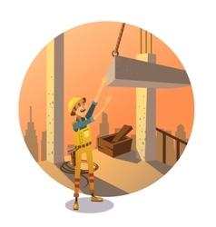 Retro construction cartoon vector