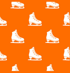 skates pattern seamless vector image vector image