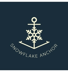 Snowflake anchor concept symbol icon or logo vector