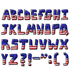 usa alphabet vector image
