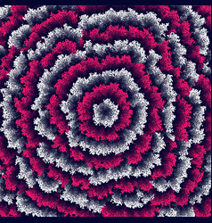 White and pink dots grouped into irregular ripples vector