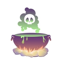 Witch cauldron with poison vector image