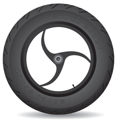 Wheel for a sports bike on a white background vector