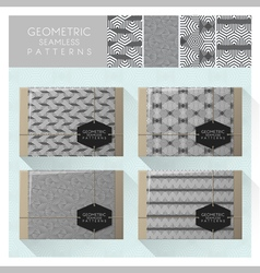 Set of geometric seamless pattern 2 vector image