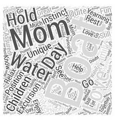 Boating moms word cloud concept vector