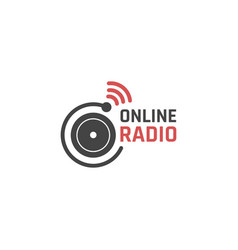 Online radio icon vector