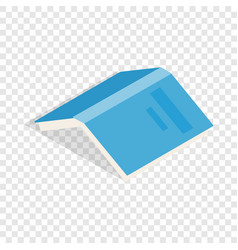 Open book with blue cover isometric icon vector