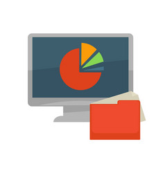 internet program files and folder flat vector image