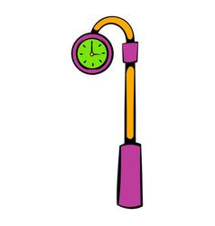 Street clock icon icon cartoon vector