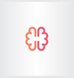 Brain icon symbol design element vector