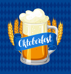 Oktoberfest beer festival or poster vector
