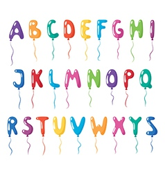 Set of alphabet balloons vector