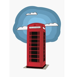 Red telephone box - london uk vector
