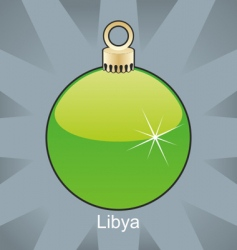 Libya flag on bulb vector