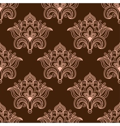 Vintage persian styled floral seamless pattern vector