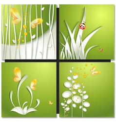 Eco green concept summer card vector
